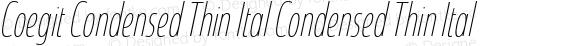 Coegit Condensed Thin Ital Condensed Thin Ital