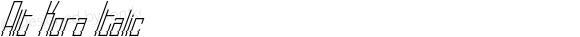 Alt Kora Italic Version 1.000;PS 001.001;hotconv 1.0.56