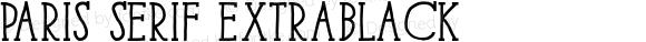 Paris Serif ExtraBlack