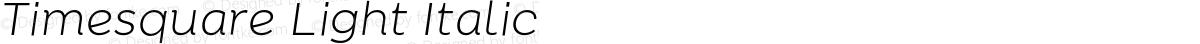 Timesquare Light Italic