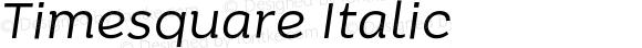 Timesquare Italic