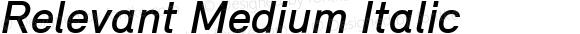 Relevant Medium Italic