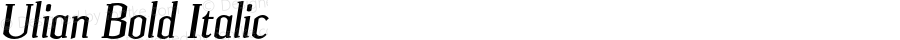 Ulian Bold Italic OTF 2.000;PS 001.001;Core 1.0.29
