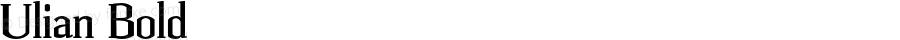 Ulian Bold OTF 2.000;PS 001.001;Core 1.0.29