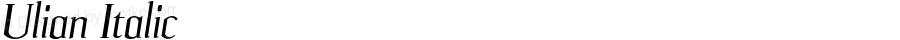 Ulian Italic OTF 2.000;PS 001.001;Core 1.0.29
