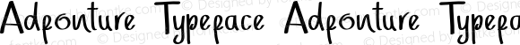 Adfonture Typeface