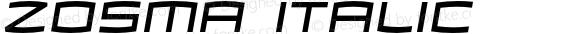 Zosma Italic Version 1.000 2005 initial release