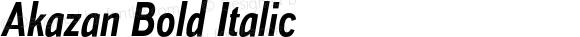 Akazan Bold Italic