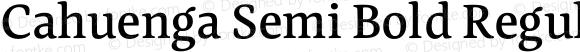 Cahuenga Semi Bold Regular