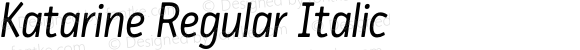 Katarine Regular Italic