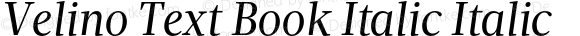Velino Text Book Italic Italic Version 1.000