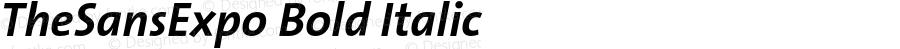 TheSansExpo Bold Italic Version 001.000