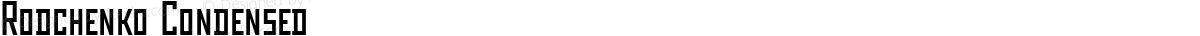 Rodchenko Condensed