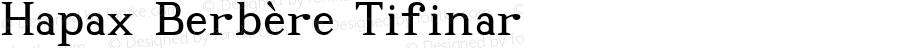 Hapax Berbère Tifinar Version 1.002 2004