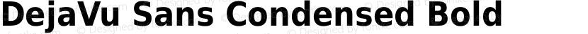 DejaVu Sans Condensed Bold Preview Image
