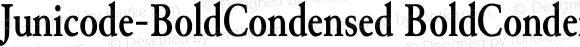 Junicode-BoldCondensed BoldCondensed