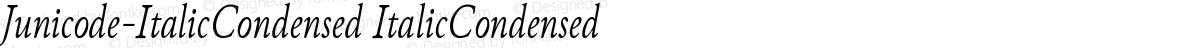 Junicode-ItalicCondensed ItalicCondensed