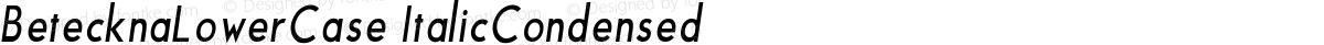 BetecknaLowerCase ItalicCondensed