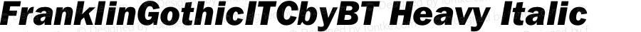 FranklinGothicITCbyBT Heavy Italic mfgpctt-v1.52 Tuesday, January 26, 1993 5:05:11 pm (EST)