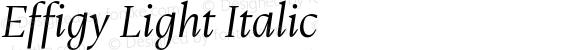 Effigy Light Italic