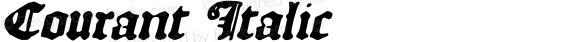 Courant Italic preview image