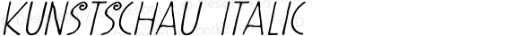 Kunstschau Italic