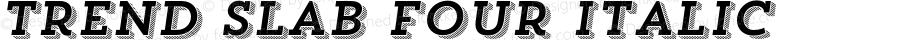TrendSlabFour-Italic