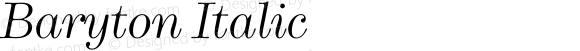 Baryton Italic