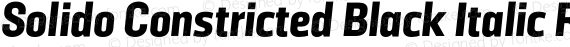 Solido Constricted Black Italic Regular preview image