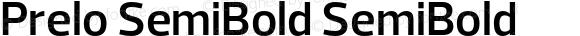 Prelo SemiBold SemiBold