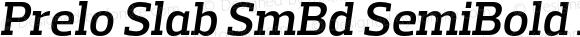 Prelo Slab SmBd SemiBold Italic