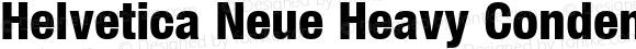 Helvetica Neue Heavy Condensed Oblique
