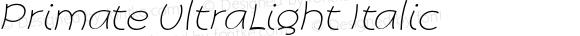 Primate UltraLight Italic