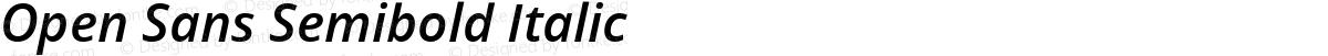 Open Sans Semibold Italic