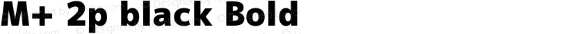 M+ 2p black Bold Preview Image