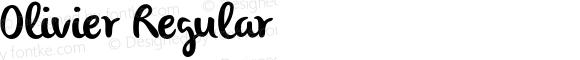 Olivier Regular Version 1.000;PS 001.001;hotconv 1.0.56