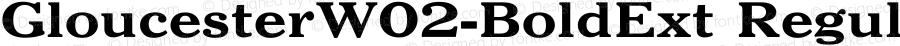 GloucesterW02-BoldExt Regular Version 2.02