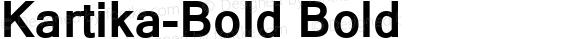 Kartika-Bold Bold Version 5.90a