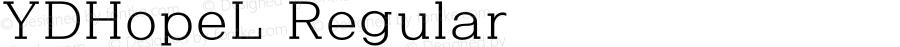 YDHopeL Regular Version 3.4; 빌드 20120415