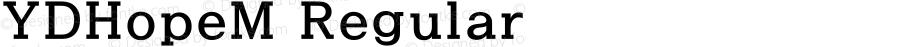YDHopeM Regular Version 3.4; 빌드 20120415