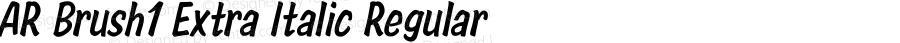 AR Brush1 Extra Italic Regular Version 2.10