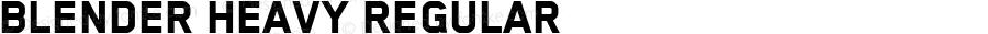 Blender Heavy Regular Version 3.007 2012