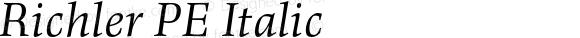 Richler PE Italic