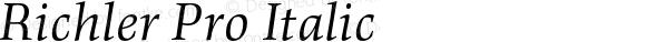 Richler Pro Italic
