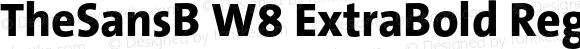 TheSansB W8 ExtraBold Regular Version 1.001 2007