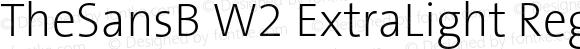 TheSansB W2 ExtraLight Regular Version 1.3
