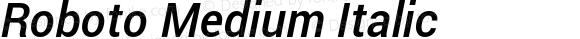 Roboto Medium Italic