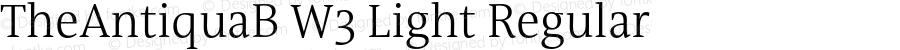 TheAntiquaB W3 Light Regular Version 1.72