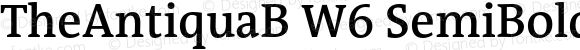 TheAntiquaB W6 SemiBold Regular Version 1.72