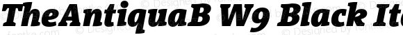 TheAntiquaB W9 Black Italic Version 1.72
